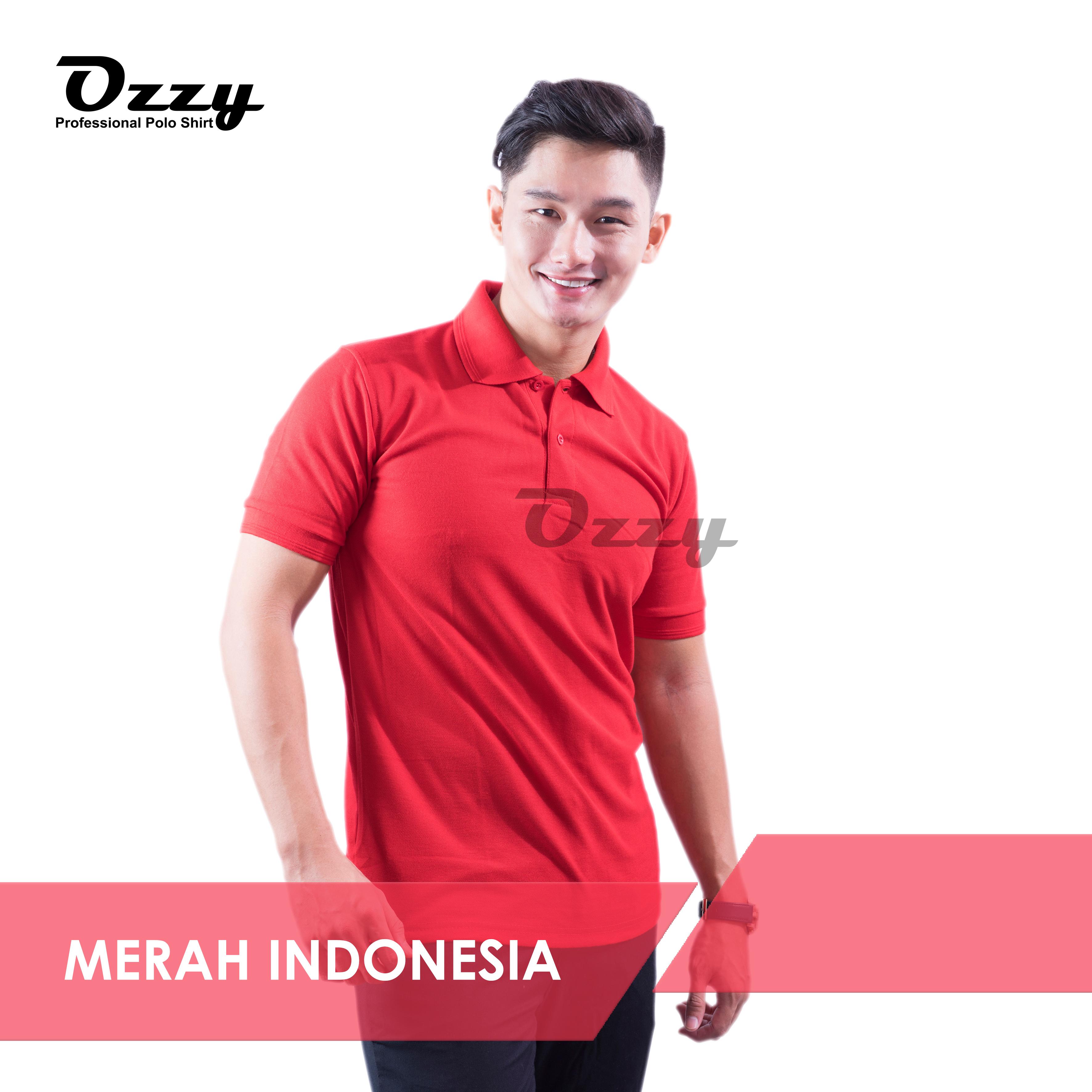 KAOS POLO JOGJA Merah Indonesia Polos