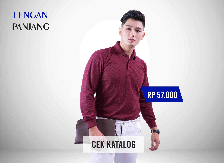 Kaos Polo Jogja Murah - Lengan Panjang - Ozzy