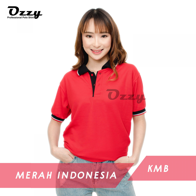 Jual Kaos Polo Jogja - MERAH INDONESIA KMB (1-1)